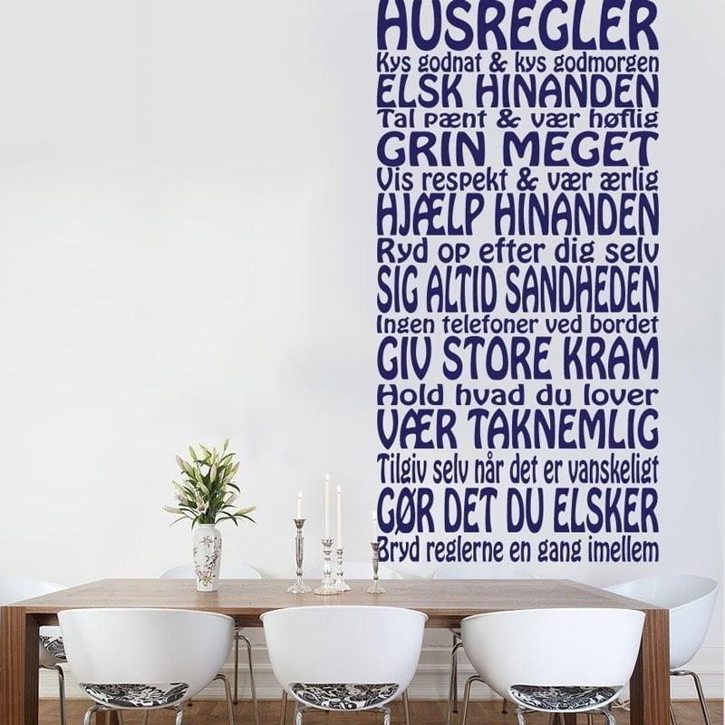 wallstickers citater dansk