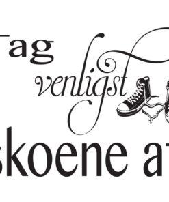 b4364b477bdd Tag Venligst Skoene Af – Wallstickers  Billige wallstickers i God dansk  kvalitet