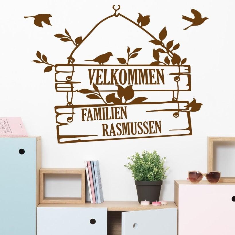 velkommen – egen tekst – wowo.dk – wallstickers i god dansk kvalitet
