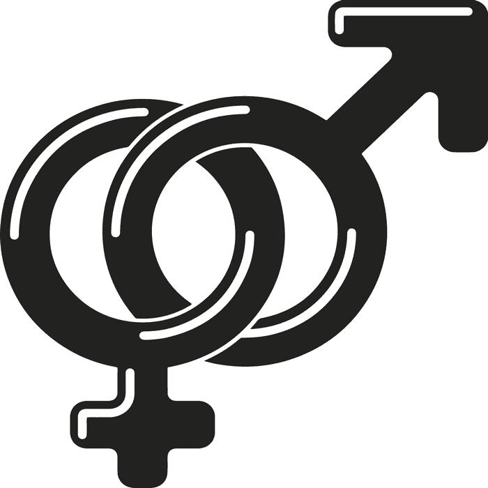 mand og kvinde tegn